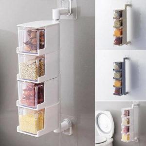 Wall sticky rotation Seasonings box