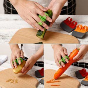 Portable Finger Held Palm Peeler