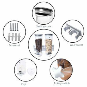 Three-tube Wall-mounted Oatmeal Dispenser