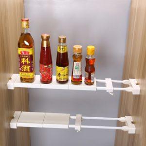 Adjustable closet organizer storage shelf