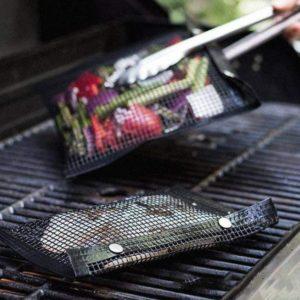 Non-Stick Barbecue Grill Mesh Bag – Pack 2